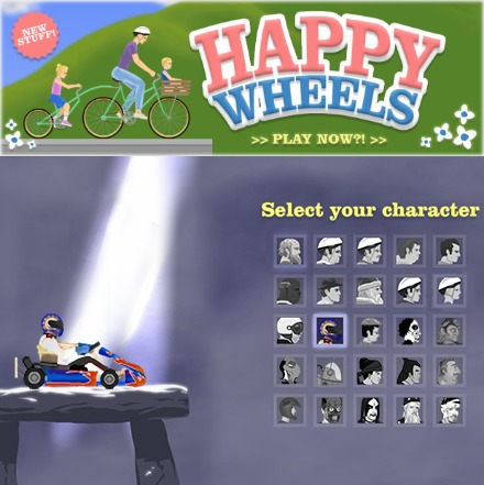 happy wheels characters